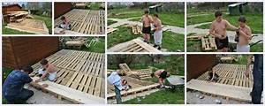Terrasse Avec Palette : construction d 39 une terrasse en palettes et en planches qu 39 est ce qu 39 on fout la ~ Melissatoandfro.com Idées de Décoration