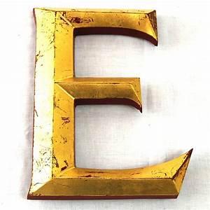 vintage gold leaf display letters by tilt originals With large display letters