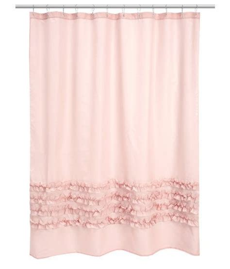 Pink Ruffle Curtains Uk by Hm Light Pink Shower Curtain H O M E