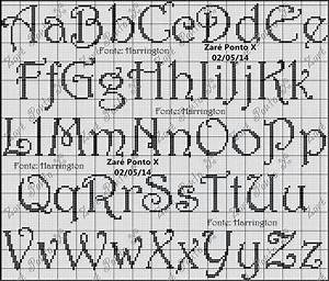 alphabet cross stitch pattern With embroidery letter patterns