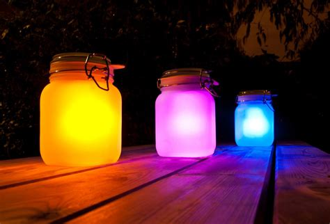 sun jar solar powered garden light in a jar