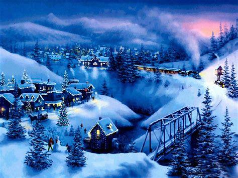 free christmas desktop wallpapers snow christmas