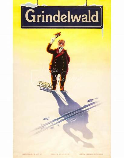Grindelwald Station Master Prints Posters Cm