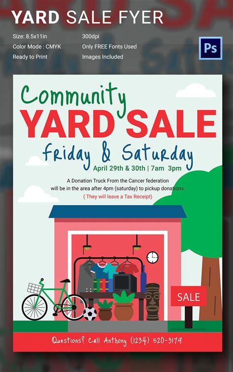 Garage Sale Flyer Template Word by 14 Best Yard Sale Flyer Templates Psd Designs Free