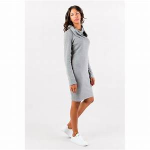 robe pull gris perle col amovible flamenzo femme grande With robe pull grande taille