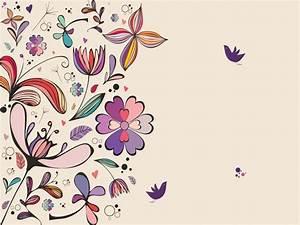 Vintage Floral Powerpoint Backgrounds Border Frames