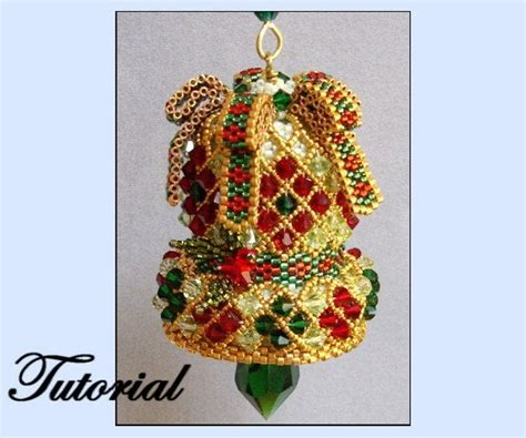 Crystal Bell Beaded Ornament
