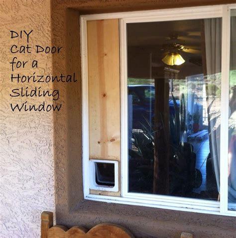 earth diy cat door horizontal sliding window