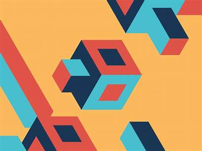 Dribbble Squares Shapes Cool Geometric Animation Abstract