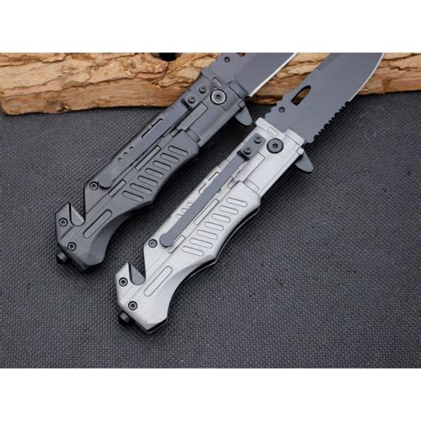pisau saku lipat cold steel 57hrc silver