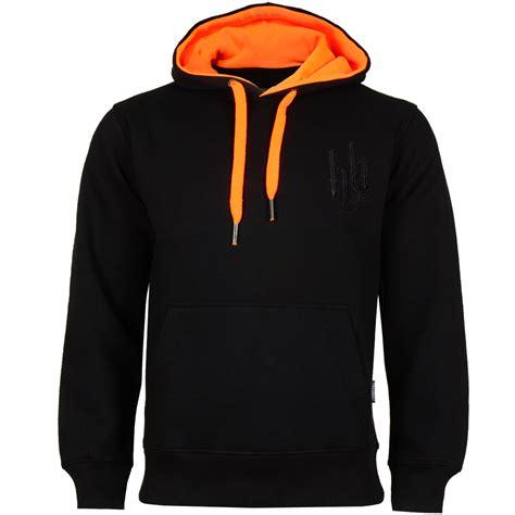 Hoodboyz Hood Sweat Men Hoodie Black Neon Orange 102428 at