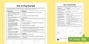 How to Play End Ball Adult Guidance - PE, Physical Education