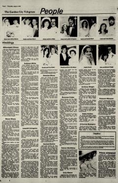 Garden City Telegram Obituary by Garden City Telegram Newspaper Archives Aug 4 1982 P 6