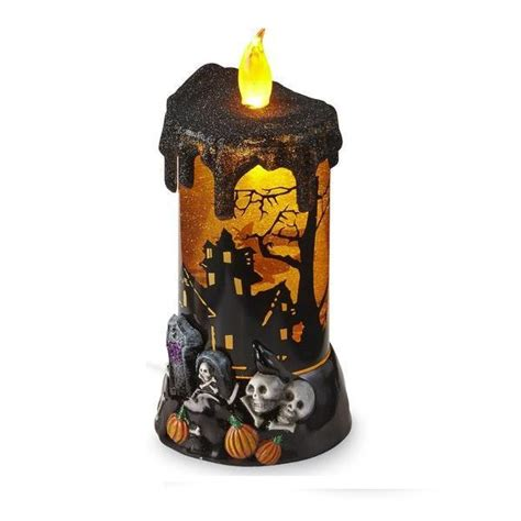 found at kmart essential home halloween led pillar candle
