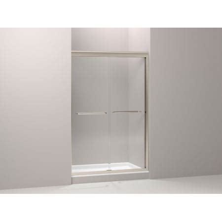 kohler fluence shower door kohler k 702209 l bh bright brass fluence sliding shower 6685
