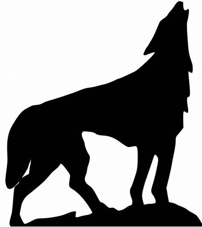 Wolf Svg Clipart Howling Clip Cliparts Silhouette