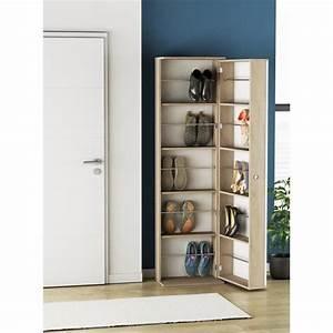 Ballerina armoire a chaussures avec miroir style for Charming meuble a chaussure avec miroir 1 meuble chaussures facade miroir