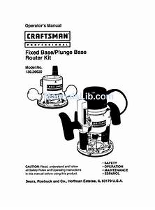 Craftsman 130 26620 Operator U0026 39 S Manual Pdf Download