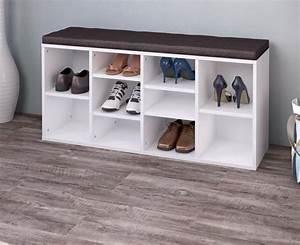 Casier A Chaussure : meuble chaussures avec coussin brun ciel et terre ~ Teatrodelosmanantiales.com Idées de Décoration
