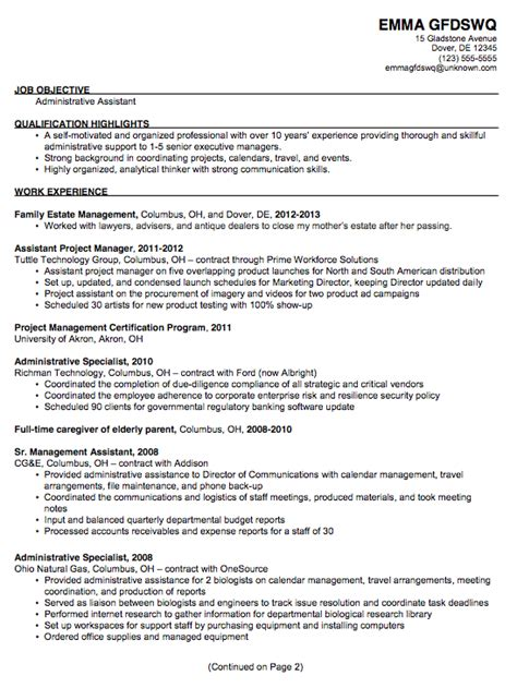 administrative assistant resume administrative assistant resume resume samples resume