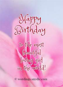 Happy Birthday Wishes for Girlfriend - Wordings and Messages
