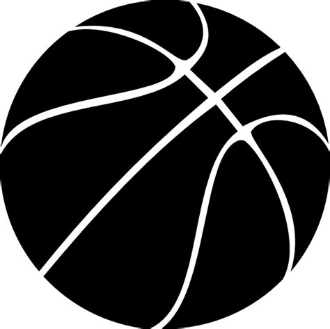 basketball clipart black and white black basketball clip at clker vector clip