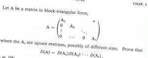 triangular form let a be a matrix in block triangular form a