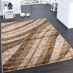 Bettumrandung Teppich Günstig : teppich modern trendige melierung wellen muster braun beige preishammer ebay ~ Markanthonyermac.com Haus und Dekorationen
