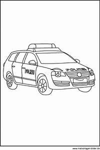 Polizeiauto Gratis Ausmalbilder Und Malvorlagen