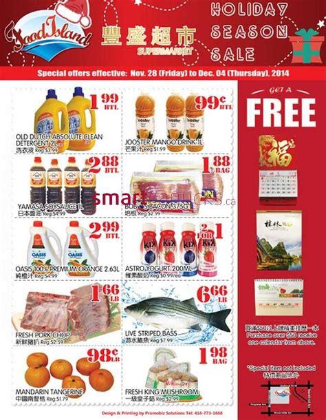 cuisine island food island supermarket flyer november 28 to december 4