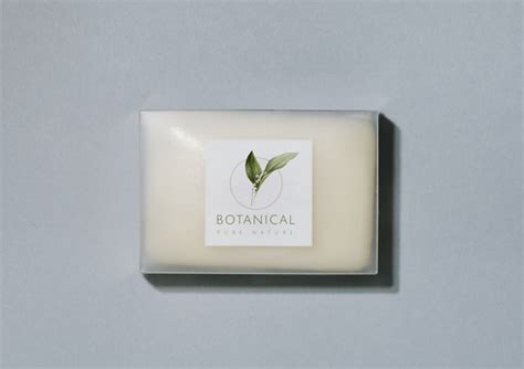Posted in photoshop » banner & mockup template. Free PSD | Botanical soap bar packaging mockup