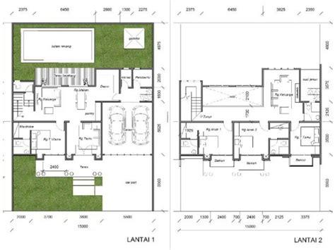 desain rumah klasik dua lantai kolam renang desain