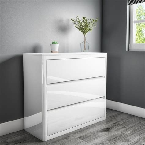 cheap white gloss chest  drawers archives efurniture uk