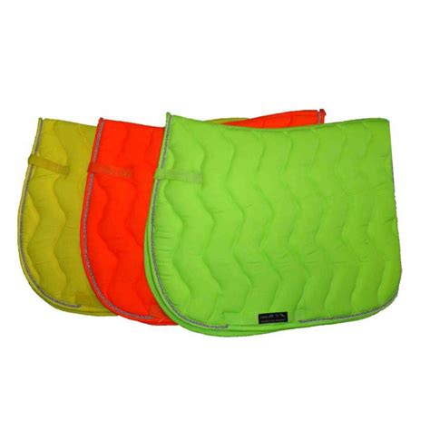 tapis de selle n 233 on fluo jaune vert orange cheval et poney