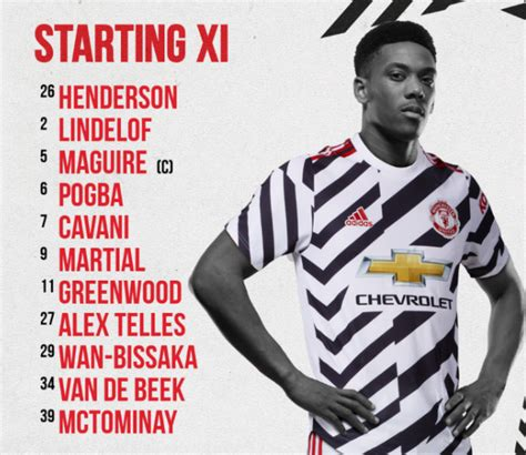 CONFIRMED: Manchester United Starting XI vs West Ham ...