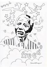Mandela Nelson Coloring Pages Colouring Famous History Month Activities Sheet Adult Drawing Printable Sheets Africa Adults Celebs Unique Getdrawings Getcolorings sketch template