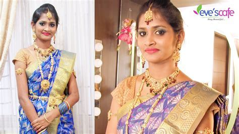 South Indian Bridal Makeup with Bridal hairstyle   YouTube