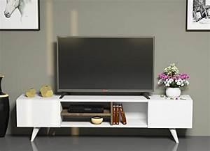 Designer Tv Board : tv board lowboard dore in wei nussbaum fernsehtisch mit 2 t ren in modernem design ~ Indierocktalk.com Haus und Dekorationen