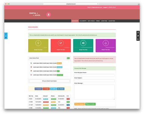 Admin Home Page Templates by 27 Free Bootstrap Admin Dashboard Templates For Your Web