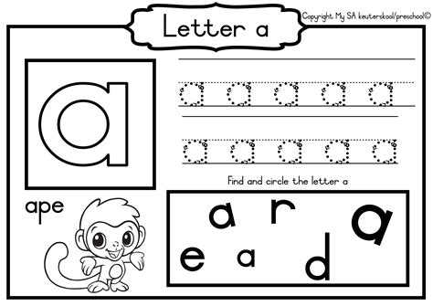 alphabet worksheets for grade r worksheet exle
