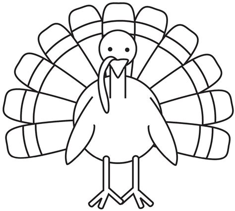 Coloring Turkey Pictures by Turkey Coloring Page Free Large Images Turkey Coloring