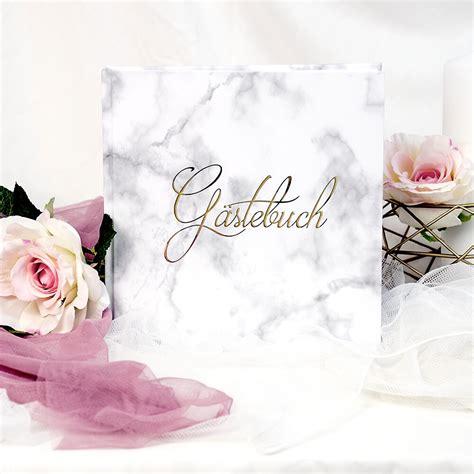 gaestebuch hochzeit marmor heissfolienpraegung  gold