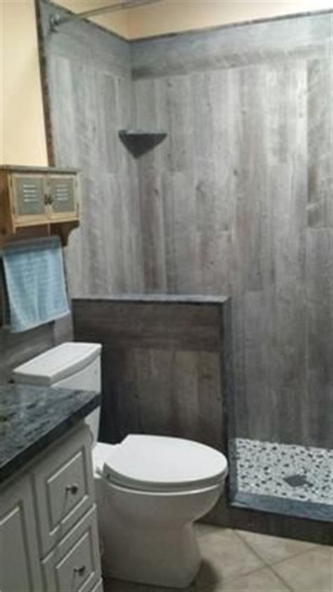 wood look tile in shower house stuff