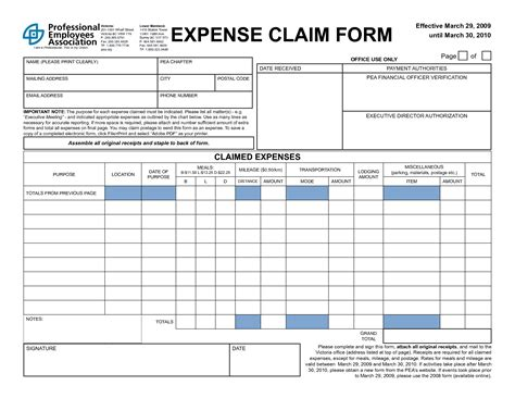 expense claim form templates excel xlts
