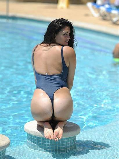 Casey Batchelor Swimsuit Pool Portugal Tan Lines