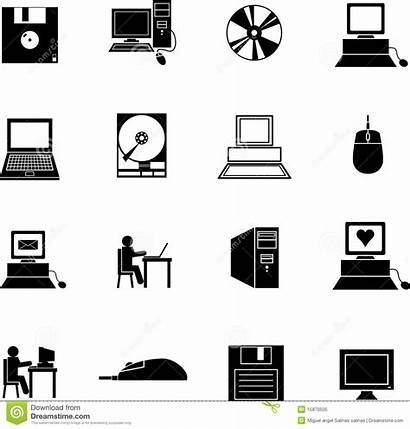 Symbols Computer Technology Icons Vector Signs Computers