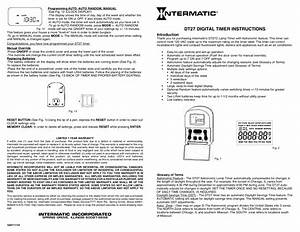 Download Free Pdf For Intermatic Dt27 Timers Other Manual