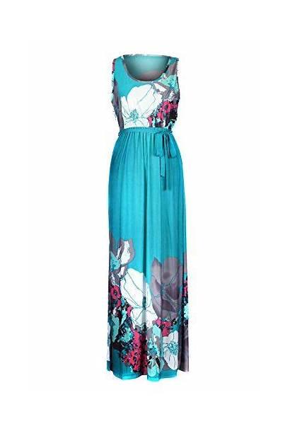 Dresses Maxi Smocked Bohemian Jersey Chic