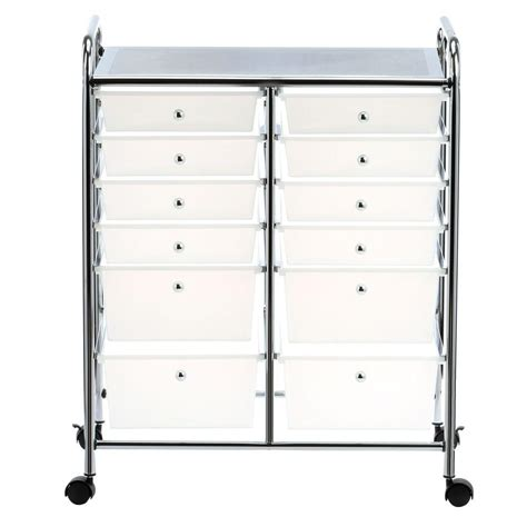 Storage Cart With Drawers And Wheels by Honey Can Do Rolling Storage Cart And Organizer With 12