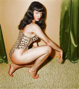 Irving Klaw Bettie Page Colorized Master Print
